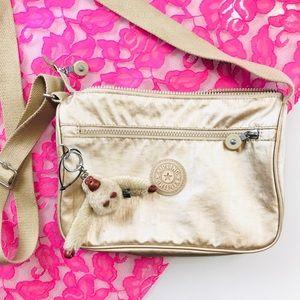 Kipling metallic crossbody bag